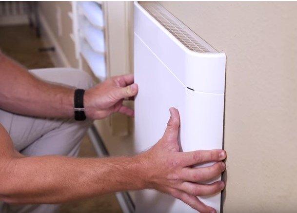 instalar calefactor electrico de pared