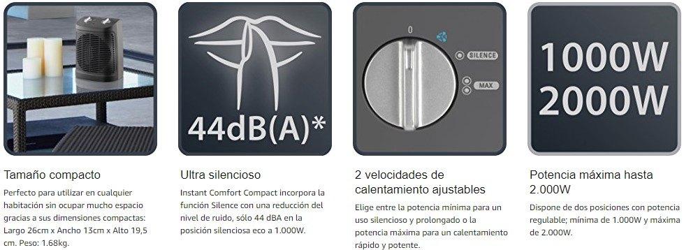 ventajas oferta calefactor de aire Rowenta SO2320F2